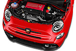 Car Stock 2016 Abarth 595 Competizione 2 Door Convertible Engine  high angle detail view