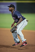Salem Red Sox first baseman Josh Ockimey (30) during the second game of a doubleheader against the Potomac Nationals on May 13, 2017 at G. Richard Pfitzner Stadium in Woodbridge, Virginia.  Potomac defeated Salem 3-2.  (Mike Janes/Four Seam Images)