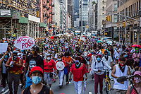 NEW YORK, NEW YORK - June 20: Hundreds of protesters march on June 20, 2020. Juneteenth commemorates June 19, 1865, when a Union general read orders in Galveston, Texas stating all enslaved people in Texas were free according to federal law. (Photo by Pablo Monsalve / VIEWpress via Getty Images)