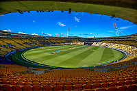 A general view during the 5th international men's T20 cricket match between the New Zealand Black Caps and Australia at Sky Stadium in Wellington, New Zealand on Sunday, 7 March 2021. Photo: Dave Lintott / lintottphoto.co.nz