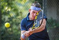 Hilversum, Netherlands, August 5, 2021, Tulip Tennis center, National Junior Tennis Championships 16 and 18 years, NJK, boys single 18 years, Daniel Verbeek (NED)<br /> Photo: Tennisimages/Henk Koster