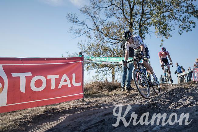 World Champion Wout Van Aert (BEL/Crelan-Vastgoedservice) leading the race ahead of Dutch Champion Mathieu Van der Poel (NED/Beobank-Corendon)<br /> <br /> CX Superprestige Zonhoven 2016