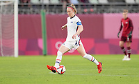 KASHIMA, JAPAN - JULY 27: Becky Sauerbrunn #4 of the United States passes off the ball before a game between Australia and USWNT at Ibaraki Kashima Stadium on July 27, 2021 in Kashima, Japan.