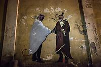 04.02.2021 - The New Renaissance - Matteo Renzi Graffiti By Harry Greb in Rome