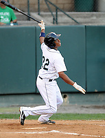 Infielder Ramon Morla (22) of the Pulaski Mariners in a game against the Danville Braves on July 19, 2010, at Calfee Park in Pulaski, Va. Photo by: Tom Priddy/Four Seam Images