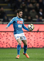 Calcio, Serie A: Inter - Napoli, Milano, stadio Giuseppe Meazza (San Siro), 11 marzo 2018.<br /> Napoli's Dries Mertens in action during the Italian Serie A football match between Inter Milan and Napoli at Giuseppe Meazza (San Siro) stadium, March 11, 2018.<br /> UPDATE IMAGES PRESS/Isabella Bonotto