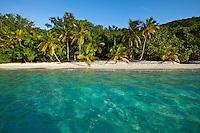 Salomon beach, Virgin Islands National Park, St. John.U.S. Virgin Islands
