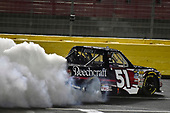 NASCAR Camping World Truck Series<br /> North Carolina Education Lottery 200<br /> Charlotte Motor Speedway, Concord, NC USA<br /> Friday 19 May 2017<br /> Kyle Busch, Cessna Toyota Tundra celebrates his win with a burnout<br /> World Copyright: Nigel Kinrade<br /> LAT Images<br /> ref: Digital Image 17CLT1nk05279