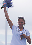 Charline Picon from France new world champion in class  Rsx during the ISAF Sailing World Championships 2014 at the Real Club Maritimo of Santander on September 19, 2014 in Santander, Spain. Photo by Nacho Cubero / Power Sport Images
