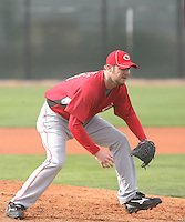 Micah Owings. Cincinnati Reds spring training workouts at the Reds new complex, Goodyear, AZ - 02/19/2010.Photo by:  Bill Mitchell/Four Seam Images.