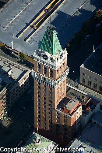 aerial photograph Tribune Tower Oakland, California