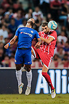 Bayern Munich Midfielder Javi Martinez (R) fights for the ball with Chelsea Forward Michy Batshuayi (L) during the International Champions Cup match between Chelsea FC and FC Bayern Munich at National Stadium on July 25, 2017 in Singapore. Photo by Marcio Rodrigo Machado / Power Sport Images