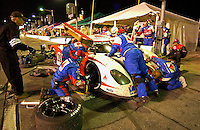 .#20 Citgo Pontiac/Crawford of Tony Stewart, Andy Wallace & Jan Lammers makes a pit stop