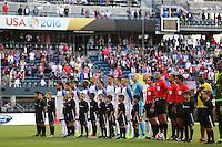 Seattle, WA - Thursday June 16, 2016: United States  during a Copa America Centenario quarterfinal match between United States (USA) and Ecuador (ECU) at CenturyLink Field.