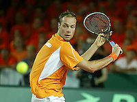 20030919, Zwolle, Davis Cup, NL-India, Martin Verkerk in zijn partij tegen Bopanna