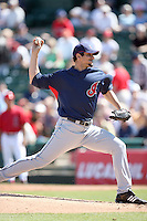 March 10,2009: Pitcher Carl Pavano (44) of the Cleveland Indians at Tempe Diablo Stadium in Tempe, AZ.  Photo by: Chris Proctor/Four Seam Images