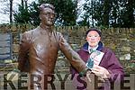 Alan Whelan at the Hugh O'Flaherty statue in Killarney
