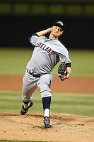 Peoria Javelinas pitcher Dylan Baker (30) during an Arizona Fall League game against the Salt River Rafters on October 17, 2014 at Salt River Fields at Talking Stick in Scottsdale, Arizona.  The game ended in a 3-3 tie.  (Mike Janes/Four Seam Images)
