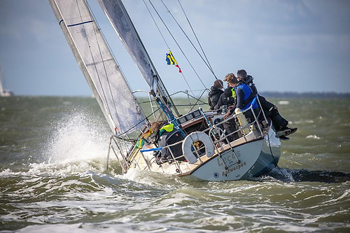 Many boats will compete with family members as part of the crew and these include Christophe Declercq's Contessa 32 Lecas - the lowest rated boat in the Rolex Fastnet Race Photo: Sportography.TV