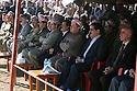 Iraq 2011.Ceremory for the bodies of Barzani killed by PUK brought to Jajok near Barzan: officials from right to left, Mahmoud Sor, Fazel Mirani, Masoud,Barzani, Kemal Kirkuki, Nechirvan Barzani,Masrour Barzani, Babaker Zibari et Derwich Agha.Irak 2011.Ceremonie a Jajok pres de Barzan pour le rapatriement des corps des Barzani tues par l'UPK. Les officiels, de droite a gauche: Mahmoud Sor, Fazel Mirani, Masoud Barzani, Kemal Kirkuki, Nechirvan Barzani, Masrour Barzani, Babaker Zibari et Derwich Agha