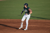 Curtis Mead (16) of the Charleston Boiled Peanuts takes his lead off of second base against the Augusta GreenJackets at Joseph P. Riley, Jr. Park on June 26, 2021 in Charleston, South Carolina. (Brian Westerholt/Four Seam Images)