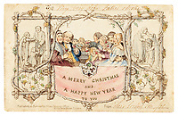 Britain's first Christmas card has emerged for sale 177 years on.