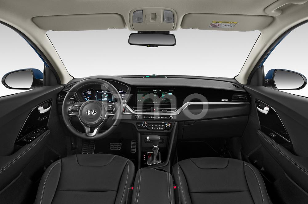 Stock photo of straight dashboard view of 2020 KIA Niro-phev Sense 5 Door SUV Dashboard