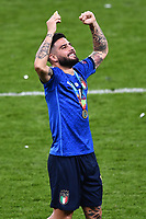 11th July 2021; Wembley Stadium, London, England; 2020 European Football Championships Final England versus Italy;  Lorenzo Insigne celebrate their win