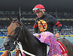 Shaman Ghost with Rafael Hernandez at the Queen's Plate at Woodbine Race Course in Toronto on July 05, 2015.