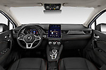 Stock photo of straight dashboard view of a 2020 Renault Captur Initiale Paris 5 Door SUV