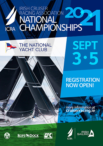 Poster for the ICRA Nationals at the National Yacht Club, Friday 3 to Sunday 5 September