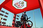 The start ramp of Stage 2 of the 2021 UAE Tour running 13km around Al Hudayriyat Island, Abu Dhabi, UAE. 22nd February 2021.  <br /> Picture: LaPresse/Gian Mattia D'Alberto | Cyclefile<br /> <br /> All photos usage must carry mandatory copyright credit (© Cyclefile | LaPresse/Gian Mattia D'Alberto)