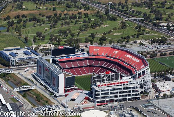 aerial photograph Levi's Stadium Santa Clara, California