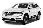 2018 Renault Koleos Intens 4wd 5 Door SUV angular front stock photos of front three quarter view