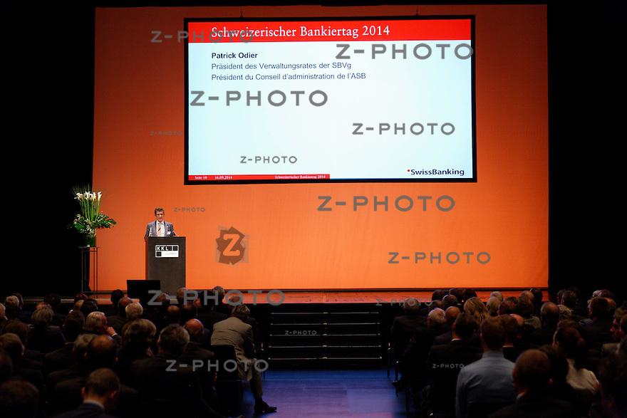 Patrick Odier; Banque Lombard Odier & Cie SA<br /> am Bankiertag vom 16. September 2014 im KKL<br /> Luzern<br /> <br /> Copyright © Zvonimir Pisonic