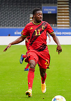 Belgium's Francis Amuzu (11) with the ball during a soccer game between the national teams Under21 Youth teams of Belgium and Germany on the 5th matday in group 9 for the qualification for the Under 21 EURO 2021 , on tuesday 8 th of September 2020  in Leuven , Belgium . PHOTO SPORTPIX.BE   SPP   SEVIL OKTEM