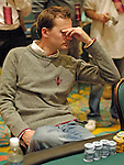 Anders Henriksson reacts after losing a big pot.