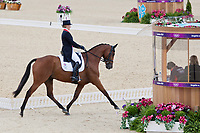 GBR-Zara Phillips (HIGH KINGDOM) 2012 LONDON OLYMPICS (Sunday 29 July 2012) EVENTING DRESSAGE: INTERIM-=24TH (46.10)