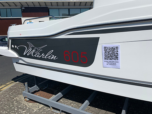 Scanning the QR code on the hull reveals the full details of the new 605