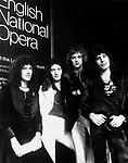 Queen 1975 Brian May, John deacon, Roger Taylor and Freddie Mercury..© Chris Walter..