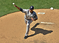 16 June 2012: New York Yankees pitcher Cory Wade on the mound against the Washington Nationals at Nationals Park in Washington, DC. The Yankees defeated the Nationals in 14 innings by a score of 5-3, taking the second game of their 3-game series. Mandatory Credit: Ed Wolfstein Photo