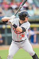 Fresno Grizzlies outfielder Brett Kill (38) at bat during the Pacific Coast League baseball game against the Round Rock Express on June 22, 2014 at the Dell Diamond in Round Rock, Texas. The Express defeated the Grizzlies 2-1. (Andrew Woolley/Four Seam Images)