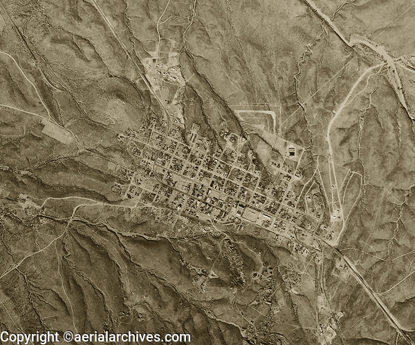 historical aerial photograph of Tombstone, Arizona, 1956