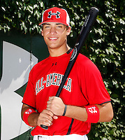 First baseman Matt Olson #17 poses for a photo before the Under Armour All-American Game at Wrigley Field on August 13, 2011 in Chicago, Illinois.  (Mike Janes/Four Seam Images)