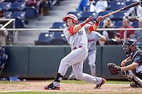 Spokane Indians' Ryan Rua #16 at bat during a game against the Everett AquaSox at Everett Memorial Stadium on June 24, 2012 in Everett, WA.  Spokane defeated Everett 11-2.  (Ronnie Allen/Four Seam Images)