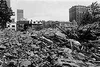 Ruines - demolition ou incendie, 1973<br /> <br /> PHOTO :   Agence Quebec Presse - Alain Renaud