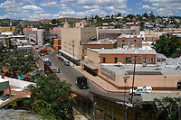 A boder patroll unit check the fence or wall separating Arizona from  Los   Nogales, Sonora, in North Mexico.