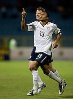 Ricardo Clark celebrates his winning goal, USA 1-0 over Trinidad at Hasely Crawford Stadium, Port of Spain, Trinidad, Wednesday, Sept. 9, 2009. ..   .