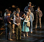 """Mark Linn-Baker and Laura Osnes with cast during the Manhattan Concert Productions 25th Anniversary concert performance of """"Crazy for You"""" at David Geffen Hall, Lincoln Center on February 19, 2017 in New York City."""