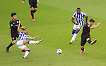 17.10.2020, OLympiastadion, Berlin, GER, DFL, 1.FBL, Hertha BSC VS. VfB Stuttgart, <br /> DFL  regulations prohibit any use of photographs as image sequences and/or quasi-video<br /> im Bild Carneiro da Cunha (Hertha BSC Berlin #10), Jhon Cordoba (Hertha BSC Berlin #15),<br /> Wataru Endo (VfB Stuttgart #3), Marc-Oliver Kempf (VfB Stuttgart #4)<br /> <br />     <br /> Foto © nordphoto /  Engler